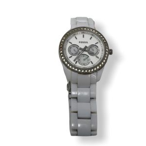 White Fossil Crystal Watch